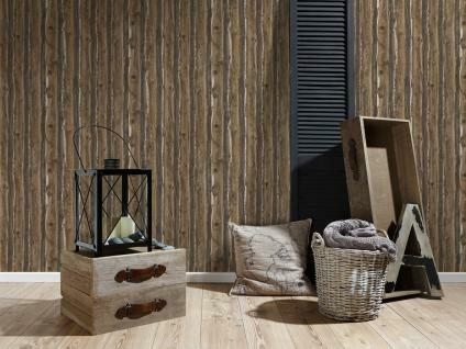 Wood Wallpaper Wooden Effect Grain Panel Distressed Realistic Brown Beige