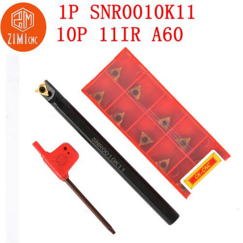 1pc SNR0010K11 lathe turning holder+11IR A60 thread insert carbide inserts blade