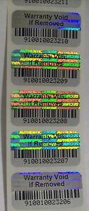 100-Warranty-Void-BARCODE-Security-Hologram-Tamper-Evident-Label-Stickers-Seals
