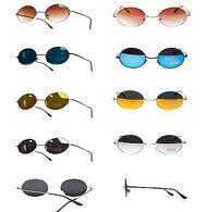 Round John Lennon Style Sunglasses Mirror Hippy Hippie 70's 60's Lens