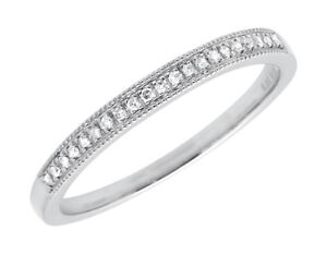 14k-White-Gold-Milgrain-One-Row-Pave-Diamond-Engagement-Wedding-Ring-Band-0-10ct
