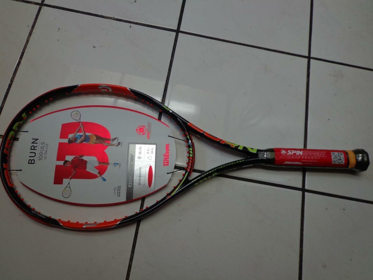 NEW Wilson Burn 100ULS 18x16 100 head 4 1 2 grip Tennis Racquet