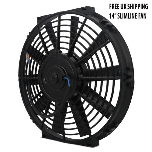 "Universal 14/"" Pusher Puller Radiator Intercooler Cooling Fan 12V Fan Slimline"