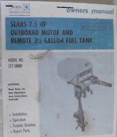 Sears Ted Williams 7.5,7 1/2hp Manual Cd Model 217.58880