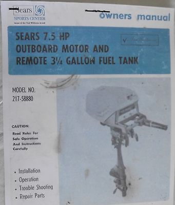 McCulloch SERVICE Repair Manual cd  7.5 9 hp sears ted williams elgin wizard