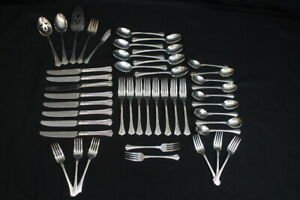 46 Pc. Vintage Towle Cutlery Athena (Stainless) Flatware Service for 8 Korea