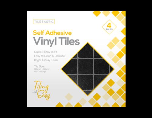 Self Adhesive Vinyl Tiles Little Black Squares