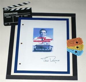Mr Rogers Neighborhood Script Signed 1619 Fred Rogers Ebay