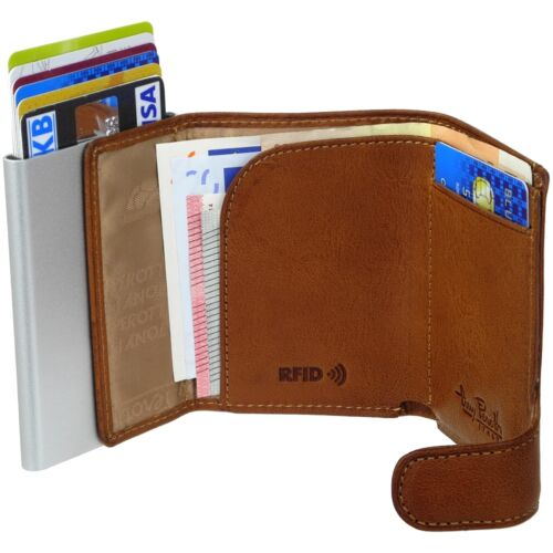 Tony Perotti Cards Exchange Slimwallet Mini Wallet Leather Card Case Rfid NFC