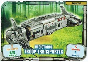 Lego-Star-Wars-Serie-1-Cartes-a-Echanger-Carte-207-Vehicule-Troop-Transporter