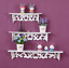 miniature 4 - 3Pcs White Wooden Wall Mounted Shelf Display Hanging Rack Storage Home Décor
