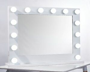 White Vanity Mirror With Lights. Image is loading Niches Pro Hollywood Vanity makeup Mirror High Quality  Large LED