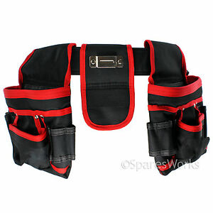 Double Tool Belt Heavy Duty 20 Pocket Joiners Carpenter Builders Nails Pouch