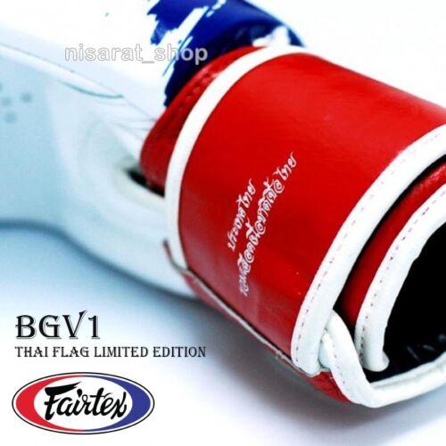 FAIRTEX BOXING GLOVES THAI FLAG LIMITED EDITION BGV1 SPARRING MUAY THAI MMA K1