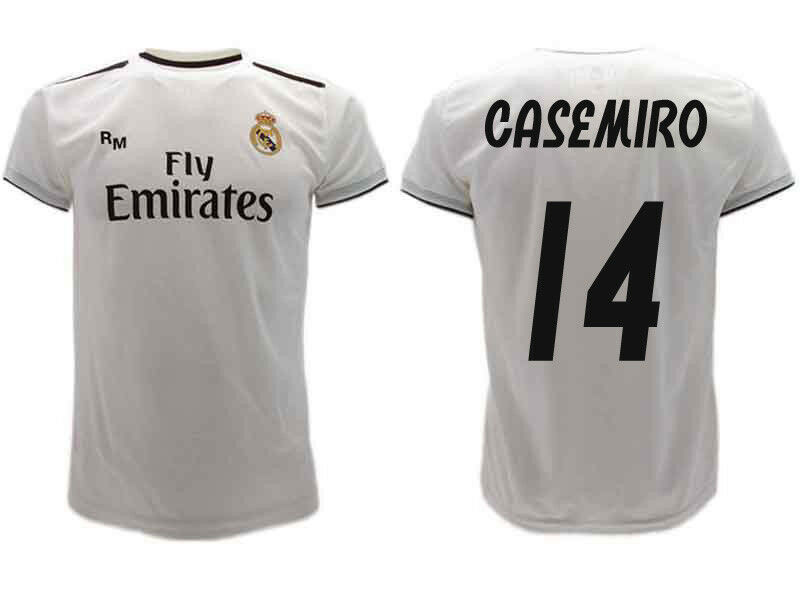 Maillot Real Madrid Casemiro 2019 Officiel Uniforme 2018 Carlos 14 Home white