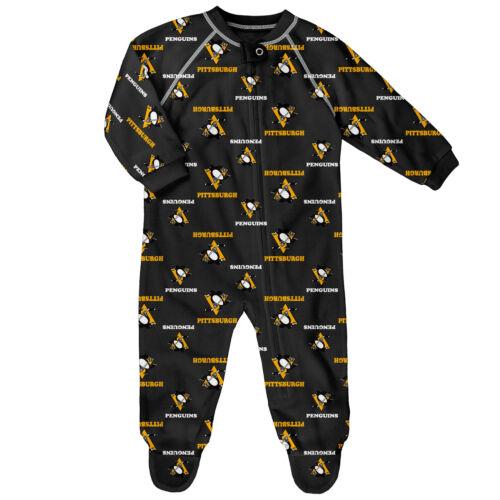 NHL Pittsburgh Penguins Raglan AOP Sleeper Suit Newborn Kids Fanatics