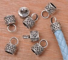 10x Tibetan Silver Charms Seedling Young Plant Connectors DIY 15*31mm