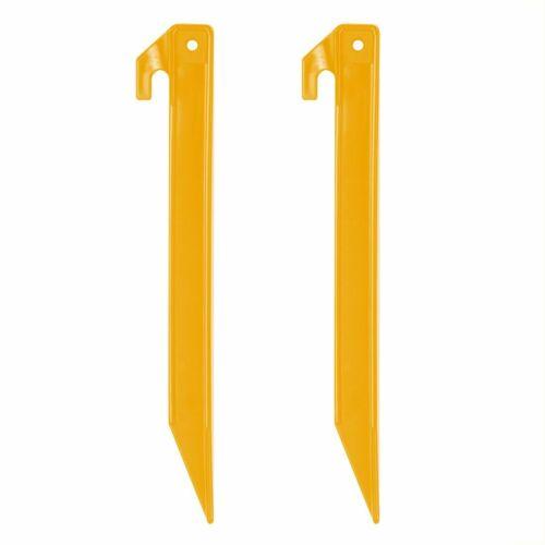 Jeu de 10 PEG IT 10TH 22 ABSPiquets de tente en plastique22cm jaune