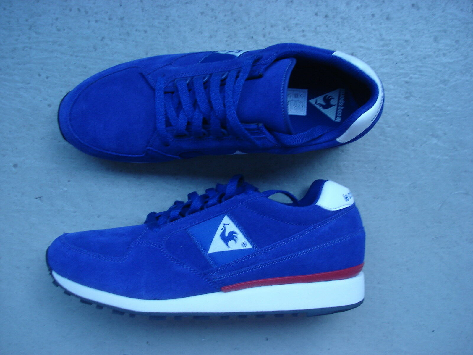 Le Coq Sportif 44 Eclate Suede Leather Sodalite Blue/Vintage Red
