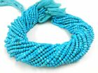 """13"""" Strand Turquoise Rondelle Faceted Gemstone loose Beads 3-4mm"""