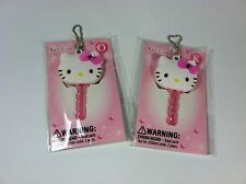Sanrio Hello Kitty White, Pink Bow, Alphabet Soft Rubber Key Cap with Ball Chain