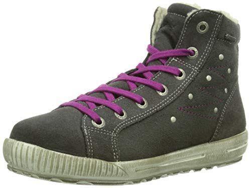 Superfit Siena Ladies Girls Leather Trainers Hi Top Waterproof Gore Tex Sneakers