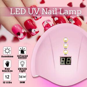 36w led uv nail polish dryer lamp gel acrylic curing light
