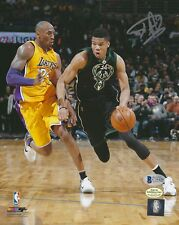 Giannis Antetokounmpo autographed 8x10 vs. Kobe Bryant signed BAS (Beckett COA)