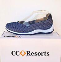 Cc Resorts Cloud Comfort Elastic Slip On Walking Shoe Sugar - Denim Colour
