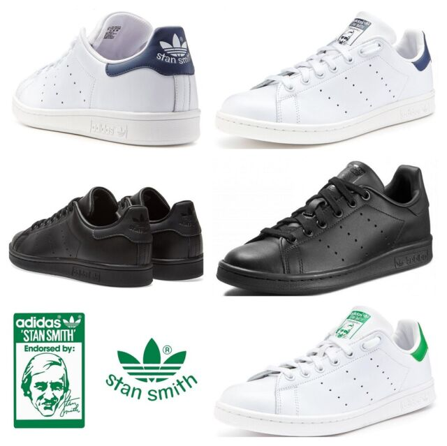 separation shoes 702d3 9a2c0 Adidas Originals Stan Smith Mens Trainers Casual Shoes Sneakers White Black