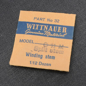 Nos Wittnauer C11m Split Winding Stem Watch Part Spare Watchmakers New Old Stock Ebay