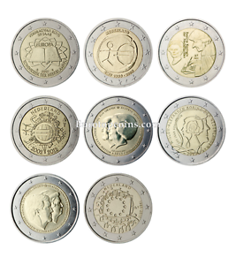 #RM# 2 EURO COMMEMORATIVE NETHERLANDS (2007-2015) -  ALL PIECES - PLEASE CHOOSE