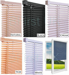 Read-to-Fit-Venetian-Window-Blind-PVC-Trimmable-Easy-to-Cut-Slats-WITH-BRACKETS
