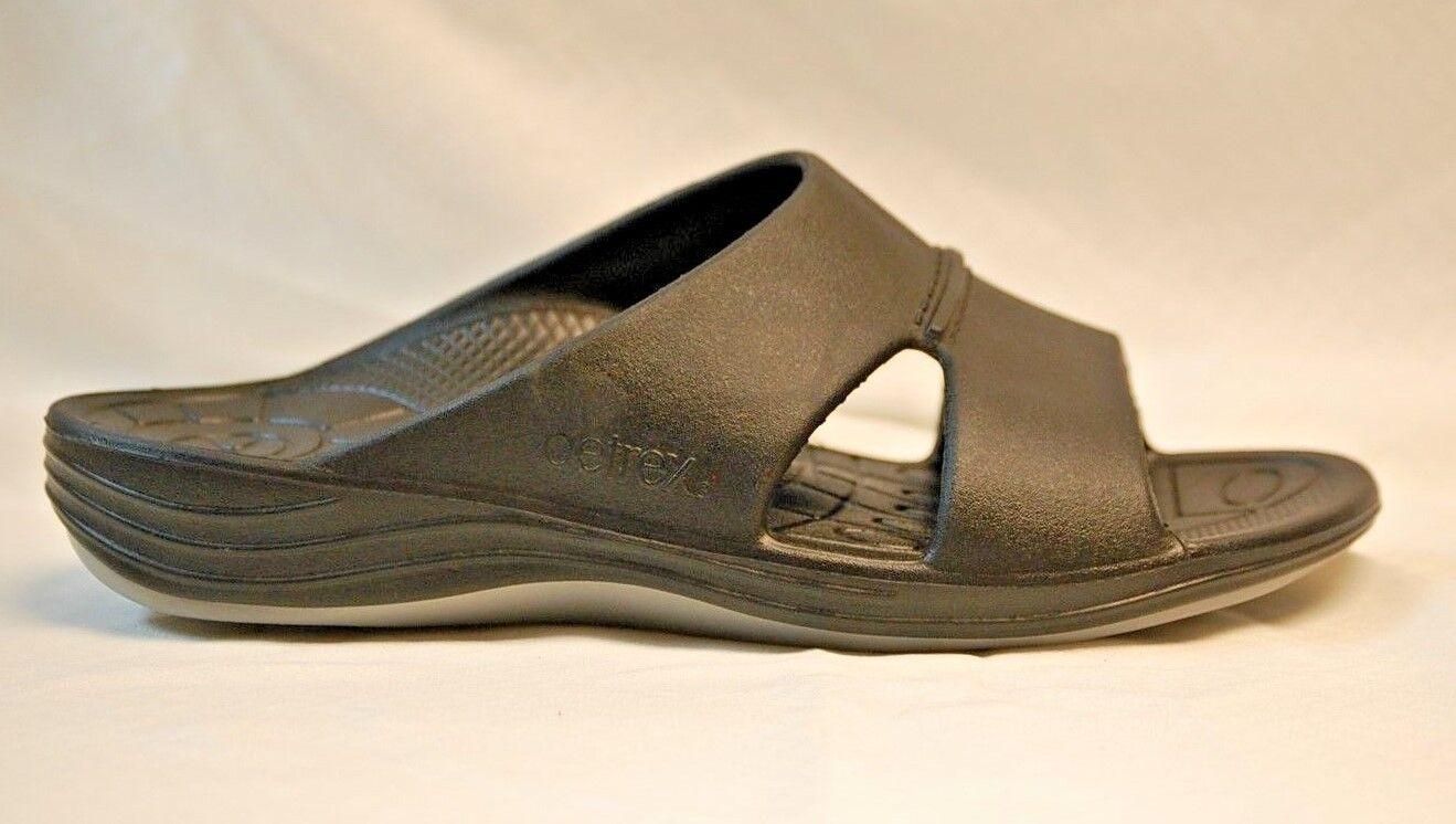 Aetrex L9000M Men's Lynco Slide Sandals Black size 12