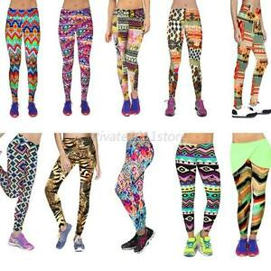 Hot Women Capris Leggings High Waisted Floral Printed Yoga Pants ...