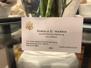 KAMALA HARRIS Official Business Card CA SENATOR PRESIDENT 2020 PRESIDENT??