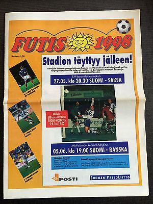 27.05./05.06.1998 Finnland - Deutschland / Frankreich In Helsinki, Futis 1998 Neueste Technik