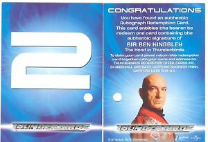 Thunderbirds Are Go The Movie Redeemed Autograph Redemption Card #2