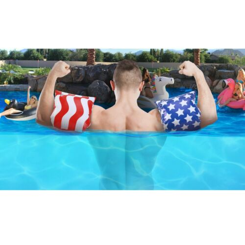 GoFloats American Flag Adult Water Wing Floaties NOVELTY USE ONLY