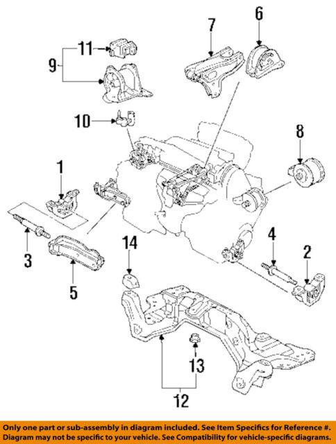 honda oem 94 95 civic engine motor mount torque strut 50807sr3a01 ebay rh ebay com