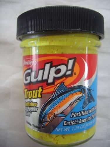 Berkley Gulp Trout Bait Buttercup Yellow 50g Glas Forellenteig Forellenköder