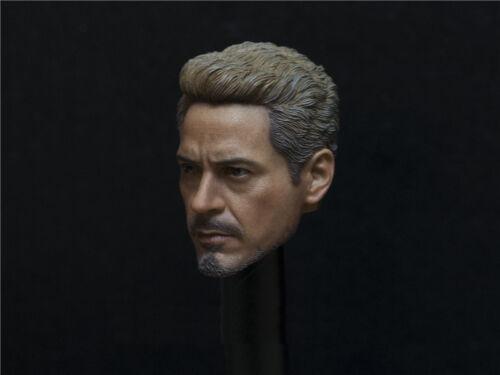 1//6 Iron Man Tony Stark Robert Downey Head Sculpt 6.0 For Hot Toys PHICEN Figure