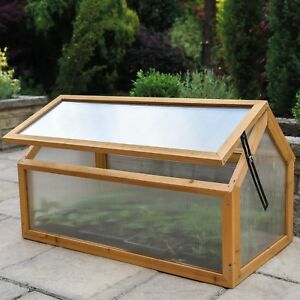 f602d789412 Image is loading Garden-Grow-Polycarbonate-Wooden-Cold-Frame -Greenhouse-Outdoor-