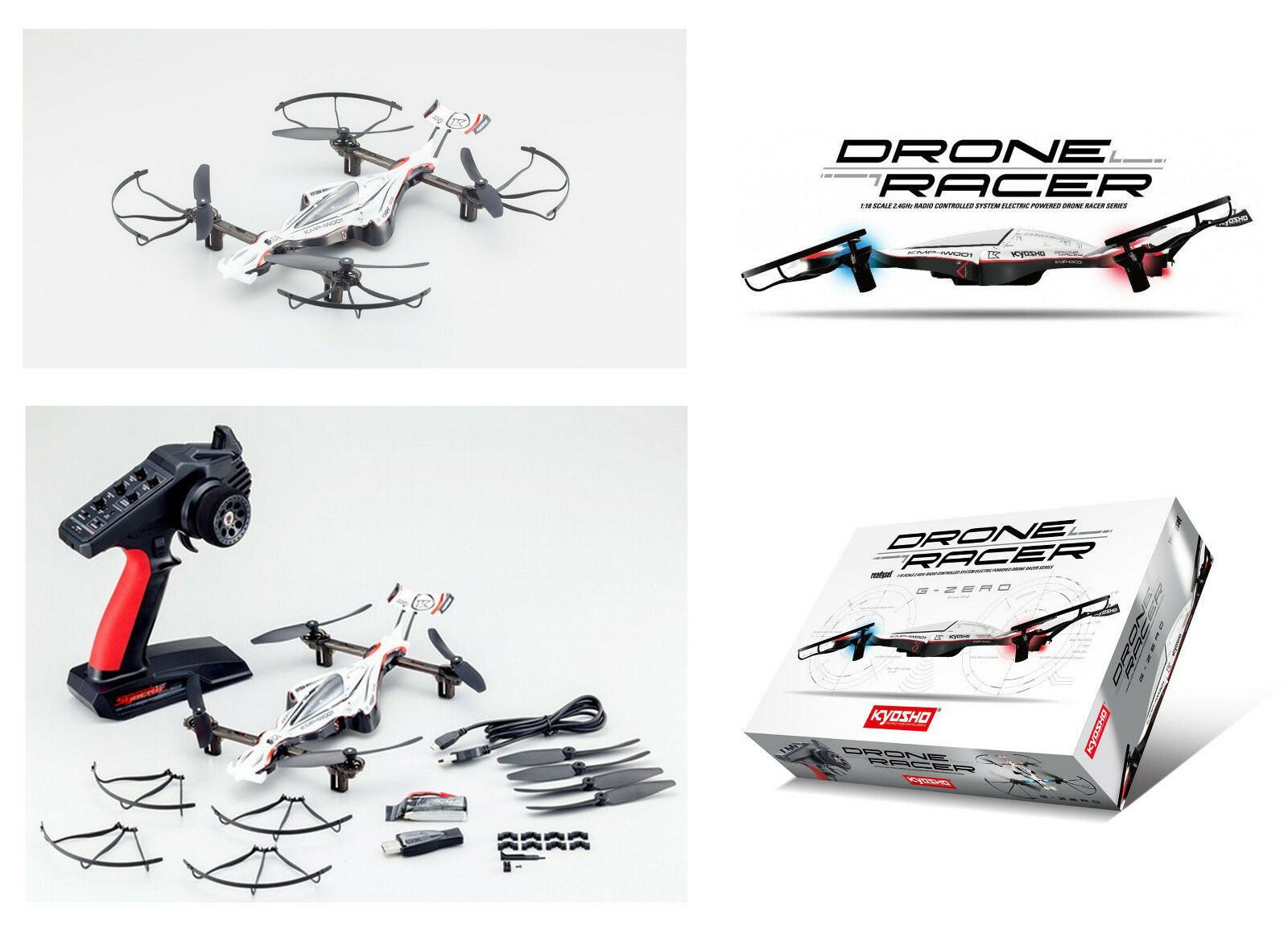 Kyosho Drone Racer  G-Zero Dynamic bianca Readyset  prezzo all'ingrosso e qualità affidabile