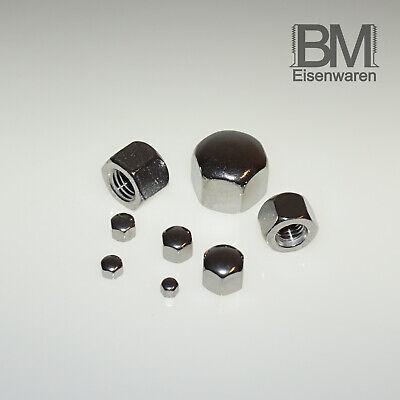 D/´s Items/® DIN 917 - Niedrige Hutmuttern V2A M6 50 St/ück Edelstahl A2 - Sechskant-Hutmuttern