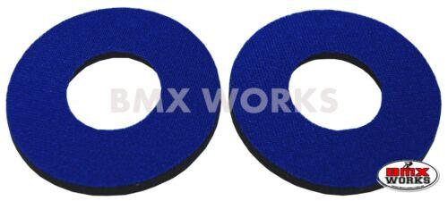 Blue Pairs Flite Old School BMX Grip Donuts