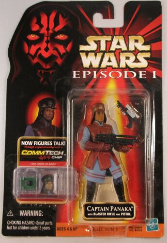Star Wars Episode I TPM Collection 2 Captain Panaka w// blaster rifle /& pistol