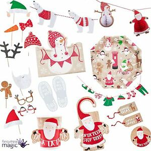 53ae93bc1106 Ginger Ray Christmas Xmas Santa and Friends Party Partyware Eve ...
