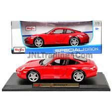 PORSCHE 911 CARRERA S 911 997 RED 1:18 DIECAST MODEL CAR BY MAISTO 31692