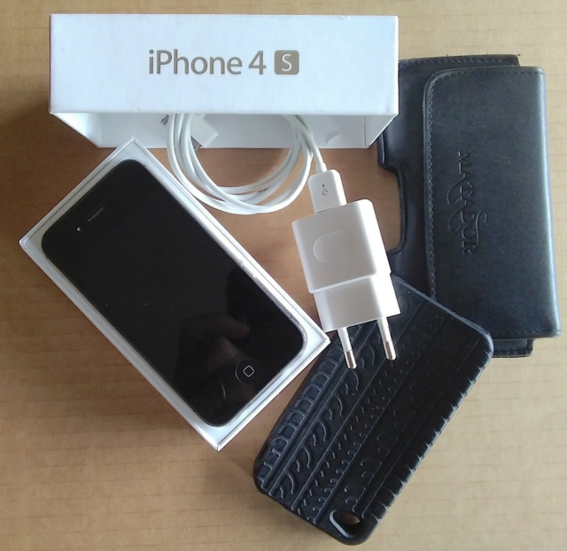 iPhone 4S, 16 GB, sort, Perfekt, NYT BATTERI, skiftet…